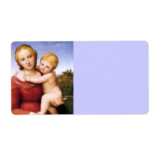 Blonde Madonna and Baby Jesus Shipping Label