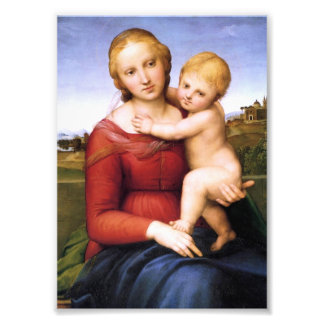 Blonde Madonna and Baby Jesus Photo Print
