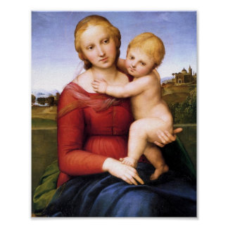Blonde Madonna and Baby Jesus Poster