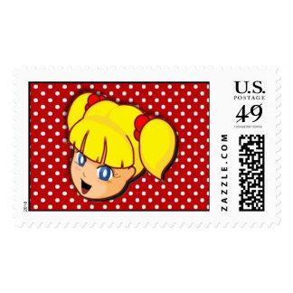 Blonde Manga Girl Postage
