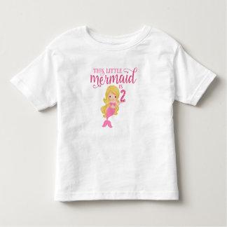 Blonde Mermaid 2nd Birthday Toddler T-shirt
