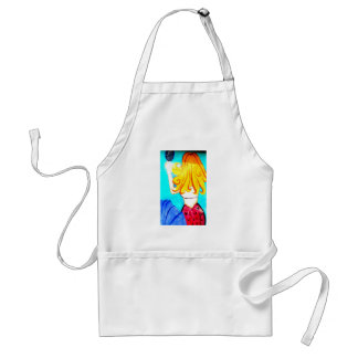 blonde mermaid apron