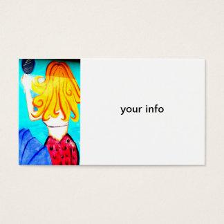 blonde mermaid business card