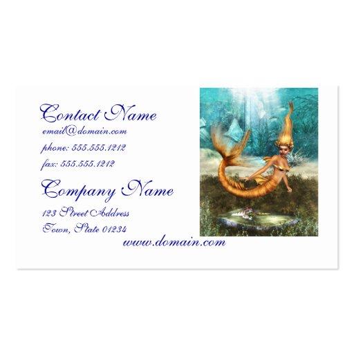 Blonde Mermaid Business Card Template