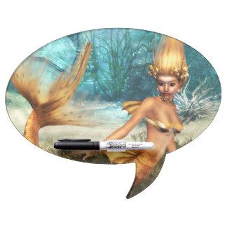 Blonde Mermaid Dry-Erase Board