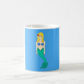 Blonde Mermaid Girl Coffee Mug