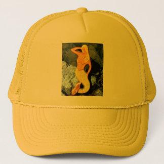 blonde mermaid looking seaward trucker hat