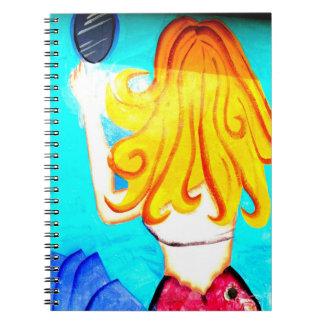 blonde mermaid notebook