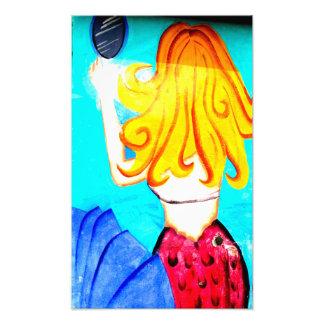 blonde mermaid photo print