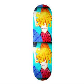 blonde mermaid skateboard