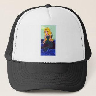 Blonde Mermaid Trucker Hat