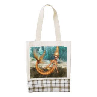 Blonde Mermaid Zazzle HEART Tote Bag