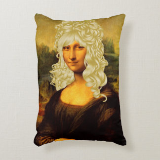 Blonde Mona Lisa Accent Pillow