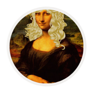 Blonde Mona Lisa Edible Frosting Rounds