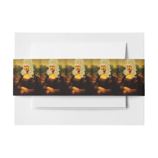 Blonde Mona Lisa Invitation Belly Band