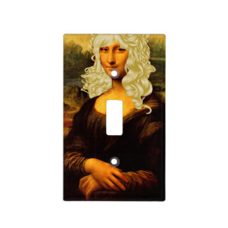 Blonde Mona Lisa Light Switch Plates