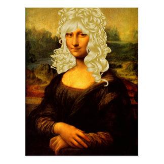 Blonde Mona Lisa Postcard