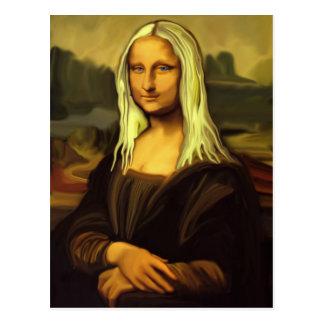 Blonde Mona Lisa Post Card