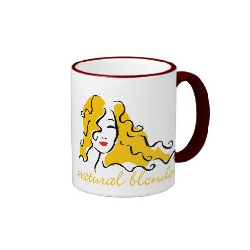 Blonde natural tazas de café