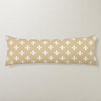 Blonde Neutral Fleur de Lys Body Pillow