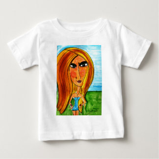 Blonde on a Grassy Hill Baby T-Shirt