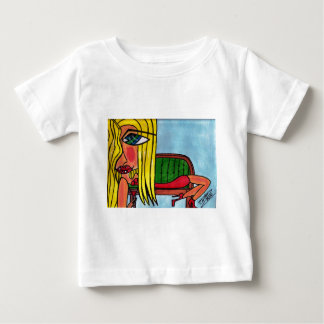 Blonde on Fainting Couch Baby T-Shirt