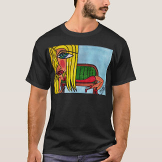 Blonde on Fainting Couch T-Shirt