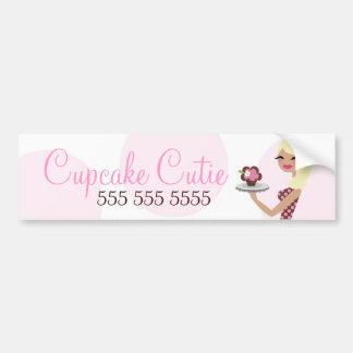 Blonde ondulado de Cutie de la magdalena de 311 Ca Etiqueta De Parachoque
