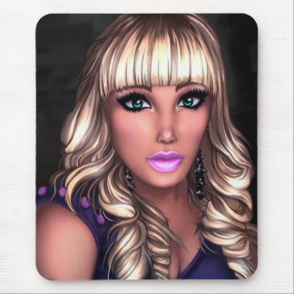 Blonde Party Girl Mouse Pad