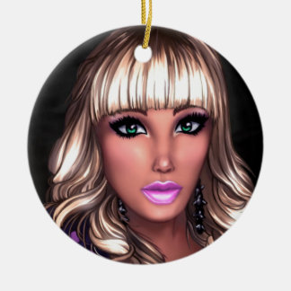 Blonde Party Girl Ornaments