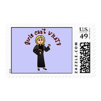 Blonde Pastor Girl Postage Stamps