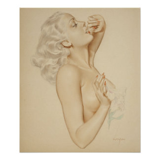 Blonde Pin Up Poster