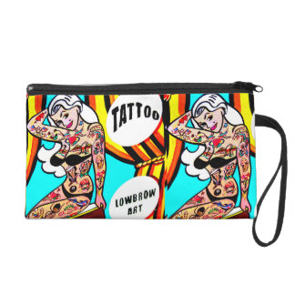 blonde pinups with tattoos wristlet