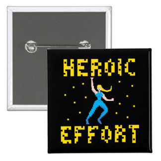 Blonde Pixel Hero Button