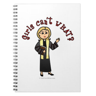Blonde Preacher Girl Notebook