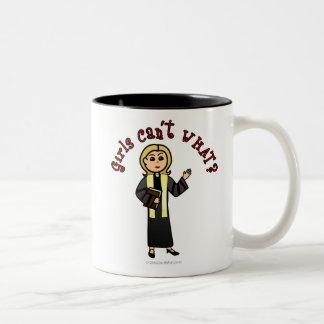 Blonde Preacher Girl Two-Tone Coffee Mug
