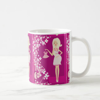 blonde pregnant woman classic white coffee mug