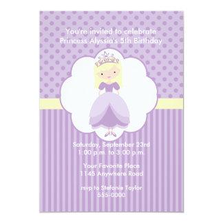 Blonde Princess Birthday Party Invitation