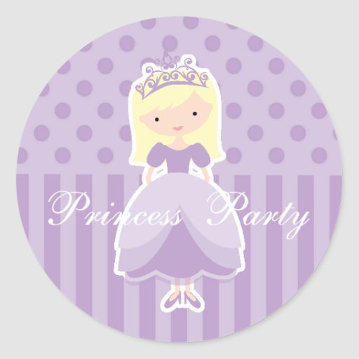 Blonde Princess Party Sticker