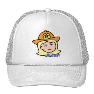 Blonde principal del bombero gorro de camionero