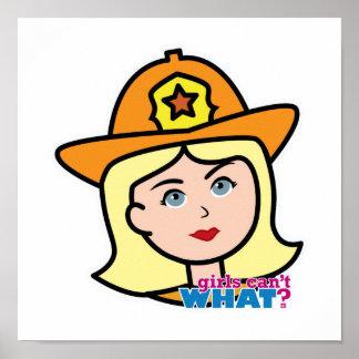 Blonde principal del bombero impresiones