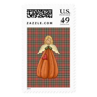 blonde pumpkin angel stamps