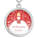 Blonde Red Musical Wedding 1st Christmas Necklace