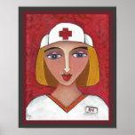 Blonde RN - nursing / nurse print