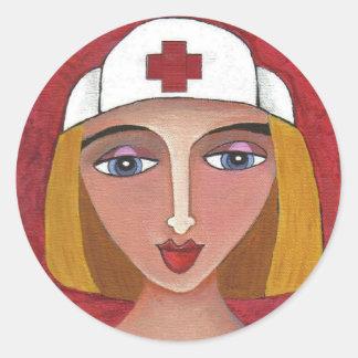 Blonde RN - nursing stickers