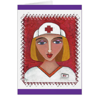 Blonde RN - thank you notes for nurses Greeting Cards