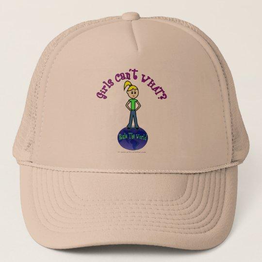 Blonde Rule The World Trucker Hat