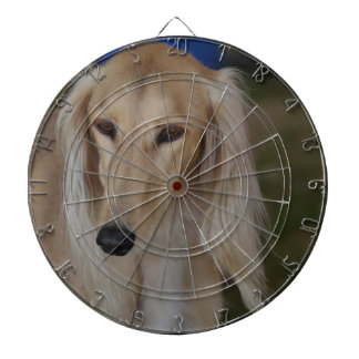 Blonde Saluki Dog Dartboard