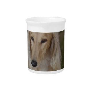 Blonde Saluki Dog Drink Pitcher