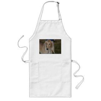 Blonde Saluki Dog Long Apron
